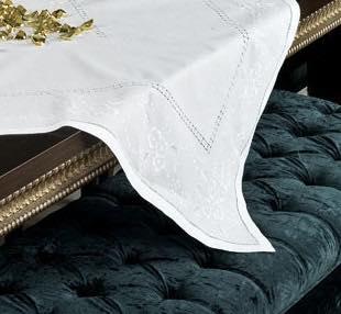 Λινό - κεντημένο - χειροποίητο - M 1738 λευκό
