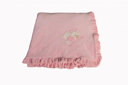 Κουβερτάκι bebe - Βελουτέ ρόζ