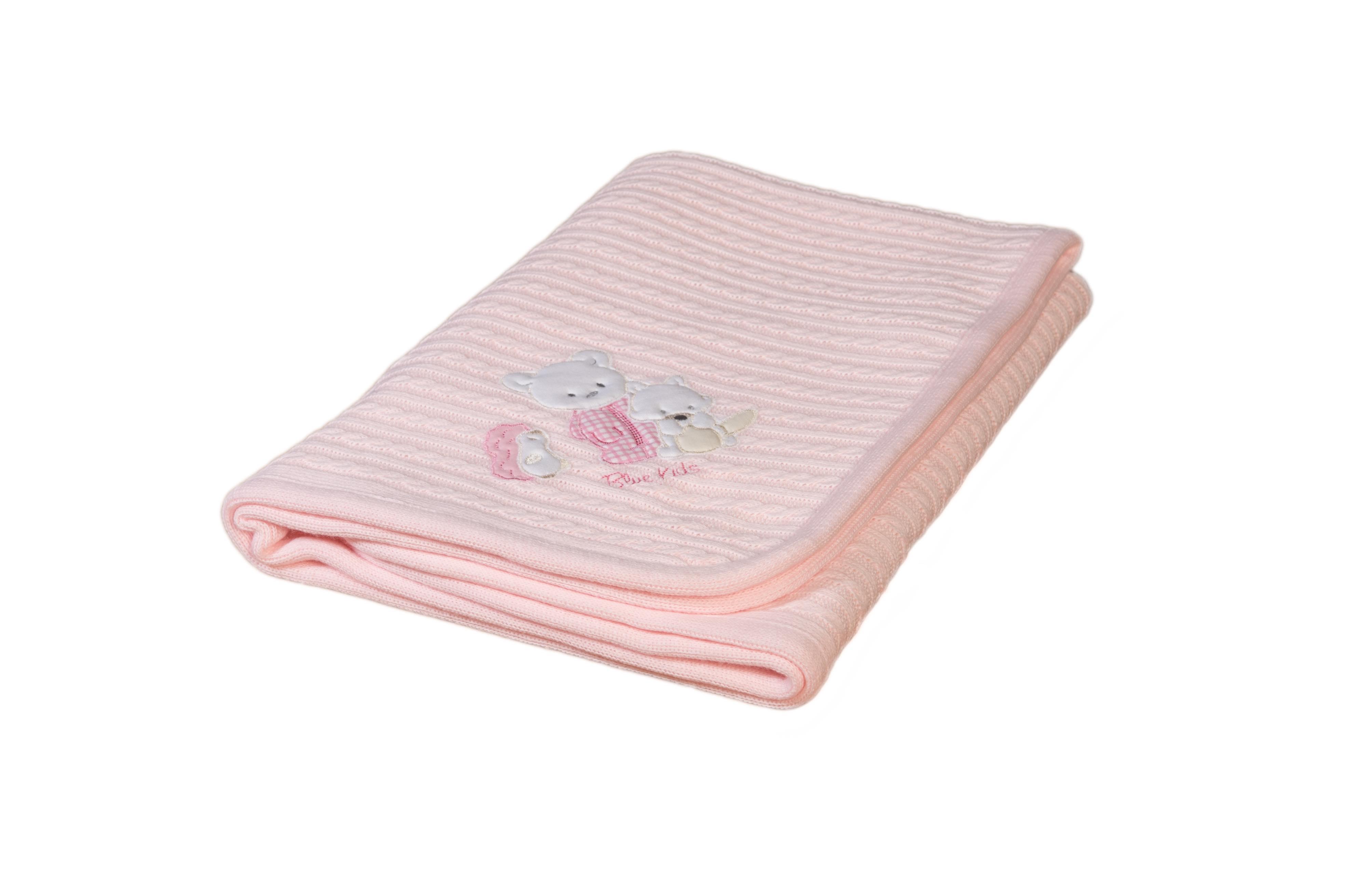 Κουβερτάκι bebe - Μάλλινο ρόζ