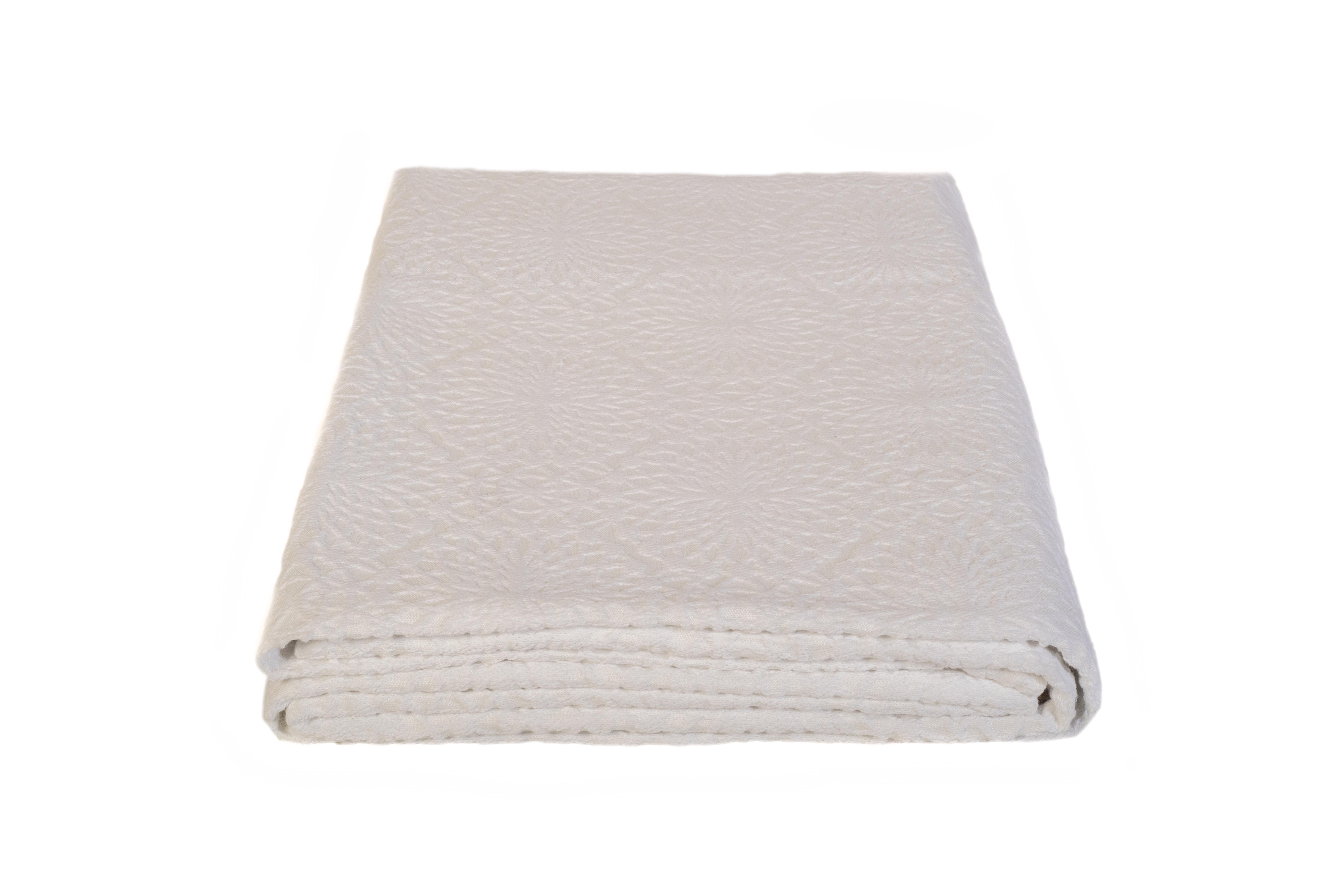 Κουβέρτα πικέ - λευκή - Fust099