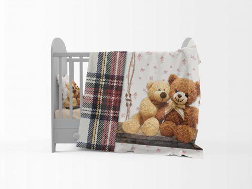 Σεντόνια Set Bebe (1 pc 120x180 1 pc 100x150 1pc 35x45) design Brothers Bears