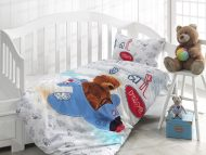 Σεντόνια Set Bebe (1 pc 120x180 1 pc 100x150 1pc 35x45) design Bear Pilot