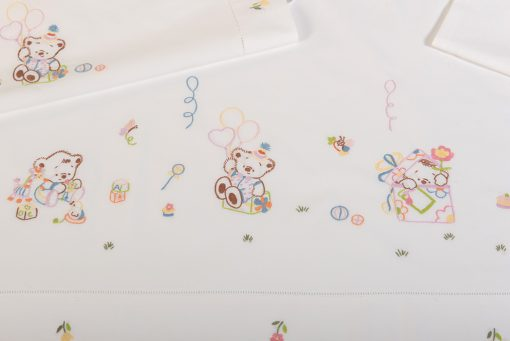 Σεντόνι χειροποίητο – Πάνα – Κουβερτάκι – BEAR BIRTHDAY '20