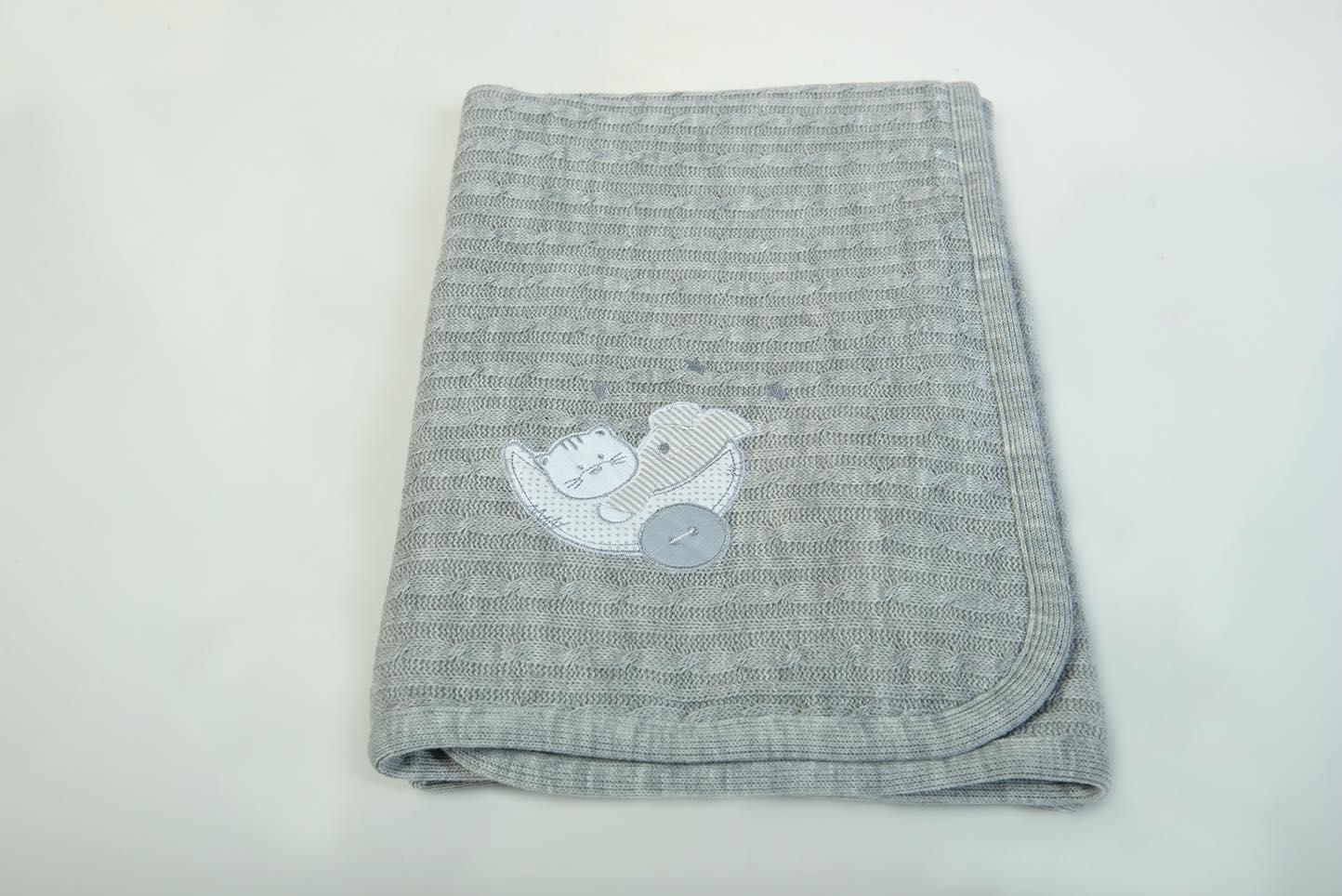 Κουβερτάκι bebe - Μάλλινο γκρί