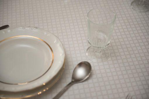 Τραπεζομάντηλο – Σειρά ASPEN – Ζακάρ με αζούρ – Γκρί – Σε 4 σχέδια – 140x180 και 240x180 με ή χωρίς πετσέτες