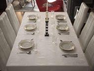 Τραπεζομάντηλο – Σειρά A' Εταμίν – Ζακάρ με αζούρ – Λευκό – Σε πολλά σχέδια – 140x180 και 240x180 με ή χωρίς πετσέτες
