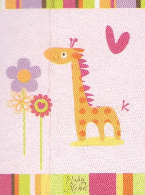 Κουβέρτα bebe 110×140 – Pink Giraffe