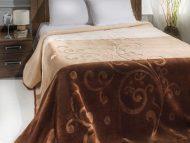 Κουβέρτα acrylic - art 611- α) καφέ β) γκρί