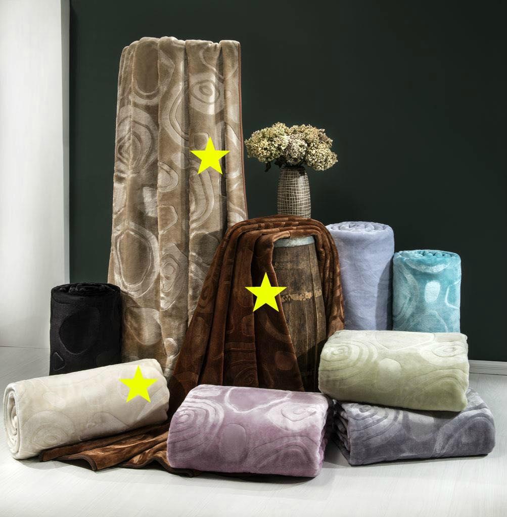 Κουβέρτα acrylic - art 617 - α) καφέ β) μπέζ γ) εκρού